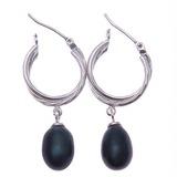 Mode Parel/925 zilver en ketting met Parel Vrouwen Oorbellen (011035845)