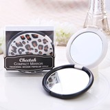 Leopard Design Plastic/Glass Compact Mirror (051053257)