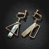 Chic Alloy Shell Women's Fashion Earrings (137192297)