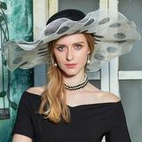 Ladies' Fashion/Romantic/Vintage Cambric Floppy Hat (196182249)