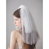 Three-tier Shoulder Veils With Rhinestones (006182538)