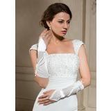 Elastische Satin Elbow Lengte Bruids Handschoenen (014024479)