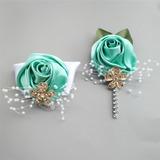 Legato a mano Raso Polso corsage/Fiore all'occhiello (Set di 2) - Polso corsage/Fiore all'occhiello (123187602)