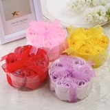 7 Pieces Lovely Rose Soaps With Ribbons (051053273)
