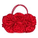 Lindo Seda com Flor Embreagens/Bolsa de Pulso (012053138)