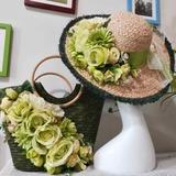 Невеста Подарки - нежный шелковые плетеная соломы Затем Ваг соломенная шляпа (255206208)