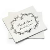 Персонализированные Цветочный дизайн Бумага Спасибо карты (набор из 10) (118032216)
