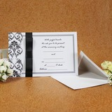 Style classique Carte plate Invitation Cards avec Rubans (Lot de 50) (114030735)