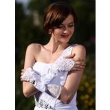 Упругие атласная локоть длина Свадебные перчатки (014005533)