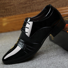 Homens Microfibra Couro Aplicação de renda Sapatos De Vestido Trabalhos Oxfords Masculinos (259173761)