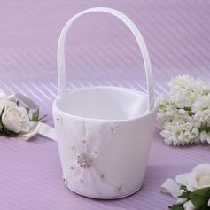 Bonito/Elegante Cesta de flores em Cetim com Strass (102037349)
