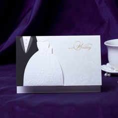 Bride & Groom Style Top Fold Invitation Cards (Set of 50) (118031584)