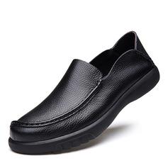Мужская натуральня кожа U-Tip вскользь Men's Loafers (260187167)
