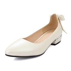 Vrouwen Kunstleer Low Heel Closed Toe schoenen (086092177)