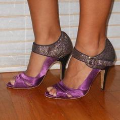 Femmes Satiné Talons Sandales Latin Chaussures de danse (053202682)