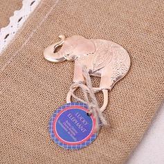 прекрасный слон цинковый сплав Открывалки для бутылок с Тег (набор из 20) (051203316)
