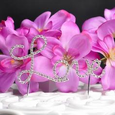любовь дизайна Хром Свадьба Фигурки для торта (119031356)