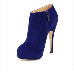 Camoscio Tacco a spillo Stiletto Piattaforma Punta chiusa Stivali alla caviglia scarpe (088020556)