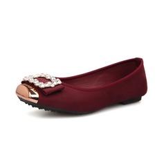 Mocka Flat Heel Platta Skor / Fritidsskor Stängt Toe med Strass skor (086054133)