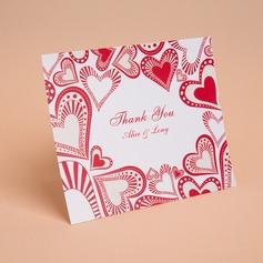 Personalizado Estilo Coração Obrigado cartões (Conjunto de 50) (114059349)