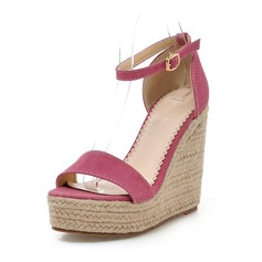 Замша Вид каблука Сандалии с пряжка обувь (087063377)