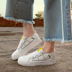 Женщины Жан Плоский каблук На плокой подошве с Шнуровка обувь (086134603)