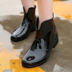 Женщины PVC Низкий каблук Ботинки Резиновые сапоги с Другие обувь (088131038)