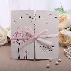 Персонализированные цветочный Стиль Gate-Fold Invitation Cards с Ленты (набор из 50) (114050674)