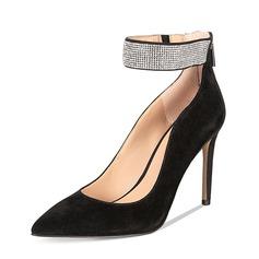 Женщины Замша Высокий тонкий каблук На каблуках Закрытый мыс с Другие обувь (085153098)