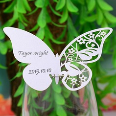 Sommerfugl udformning Perle-papir Bordkort (sæt af 12) (131037412)