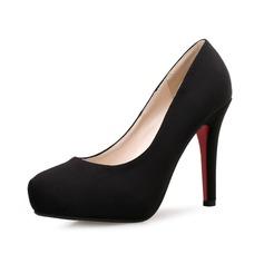Donna Camoscio Tacco a spillo Stiletto Punta chiusa scarpe (085094409)