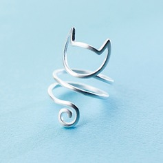s925 Silver Unieke Alloy Cat Ear Women's Fashion Rings Geschenken (129140495)