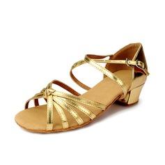 Детская обувь кожа На каблуках Сандалии Латино с Ремешок на щиколотке Обувь для танцев (053058438)