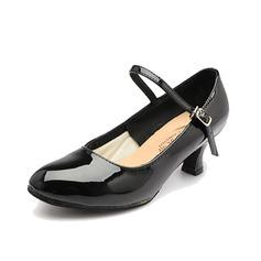Женщины Лакированная кожа На каблуках На каблуках Обувь для Персонала с пряжка Обувь для танцев (053058454)