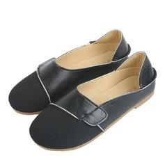 Женщины Замша Плоский каблук На плокой подошве Закрытый мыс с Соединение врасщеп обувь (086164484)