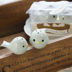 Fuglerede Keramik Salt & Peber Shakers med Bånd (Sæt med 2 stk) (051005573)