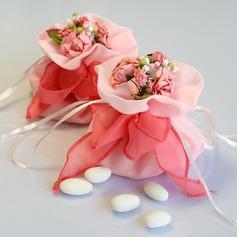 Lovely Bolsas de Ofertas com Flores/Fitas (conjunto de 12) (050046709)