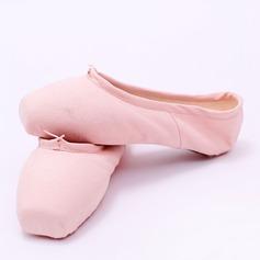 Женщины Холст На плокой подошве Обувь Пуанты Обувь для танцев (053103989)