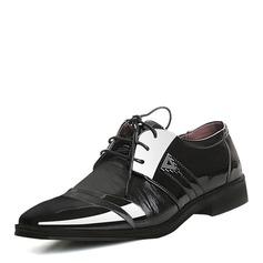 Homens Microfibra Couro Aplicação de renda Sapatos De Vestido Trabalhos Oxfords Masculinos (259173788)