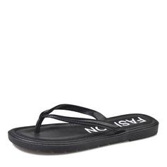 Женщины кожа Плоский каблук Сандалии На плокой подошве Босоножки Вьетнамки обувь (087164413)