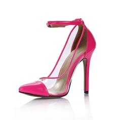 Couro Brilhante Salto agulha Plataforma Fechados sapatos (088036265)