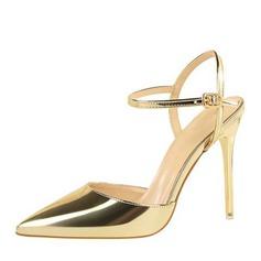 Women's Leatherette Stiletto Heel Pumps Sandals With Buckle (047146136)