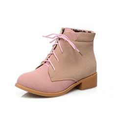 Camurça Salto robusto Bota no tornozelo sapatos (088053982)