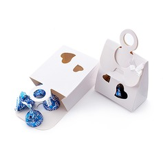 Double Heart Favor Boxes With Ribbons (Set of 12) (050015755)