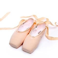Женщины Холст Обувь Пуанты Обувь для танцев (053123207)