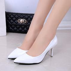 Женщины Лакированная кожа Высокий тонкий каблук На каблуках Закрытый мыс с Другие обувь (085137027)