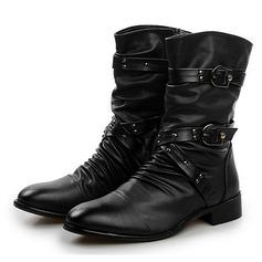 Мужская кожа из микроволокна Chukka вскользь Men's Boots (261171668)