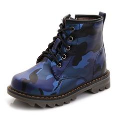 Мужская дерматин Плоский каблук Закрытый мыс Полусапоги Мартин сапоги Ботинки с Шнуровка (207146236)