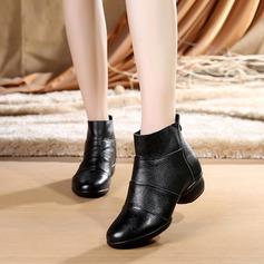 Женщины Натуральня кожа Ботинки Современный Обувь для танцев (053138901)