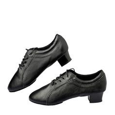 Мужская Натуральня кожа Современный Практика Обувь для танцев (053130671)